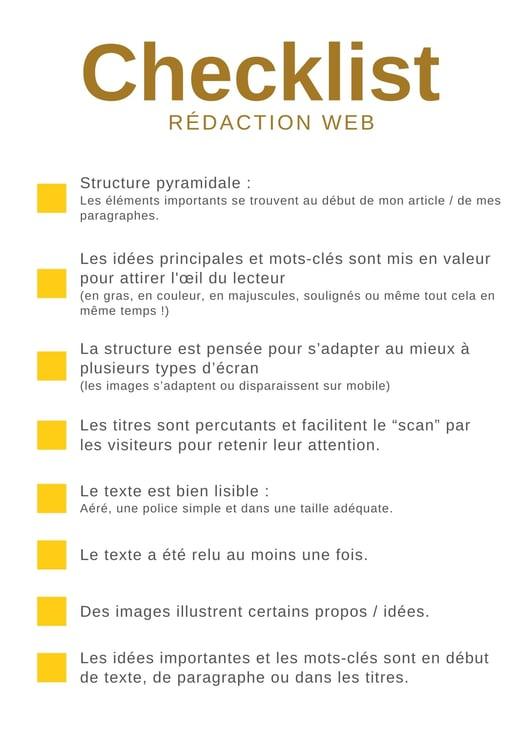 Checklist Rédaction Web