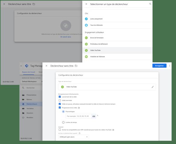 Google Tag Manager - Création d'un déclencheur